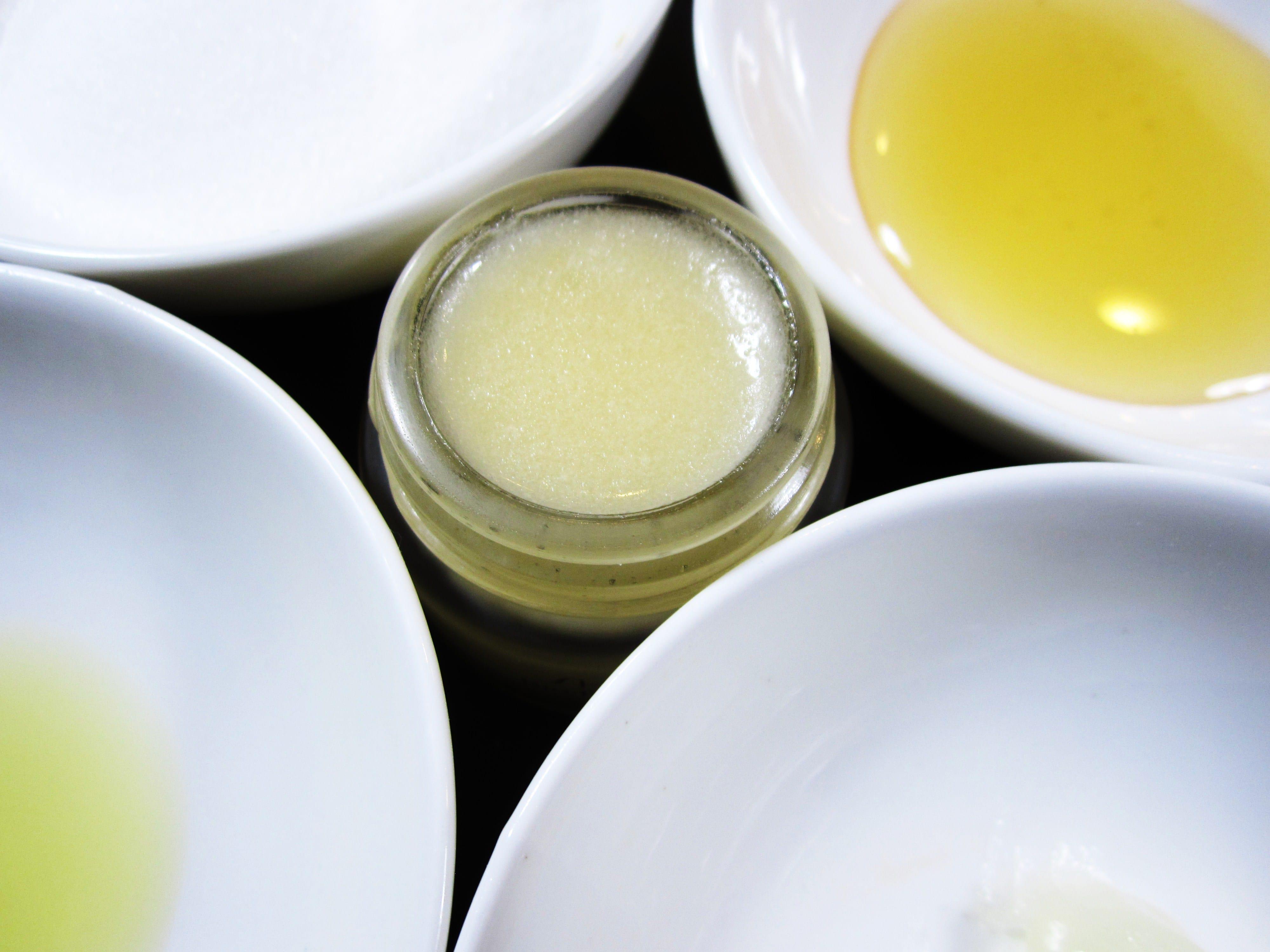 DIY lip scrub ingredients