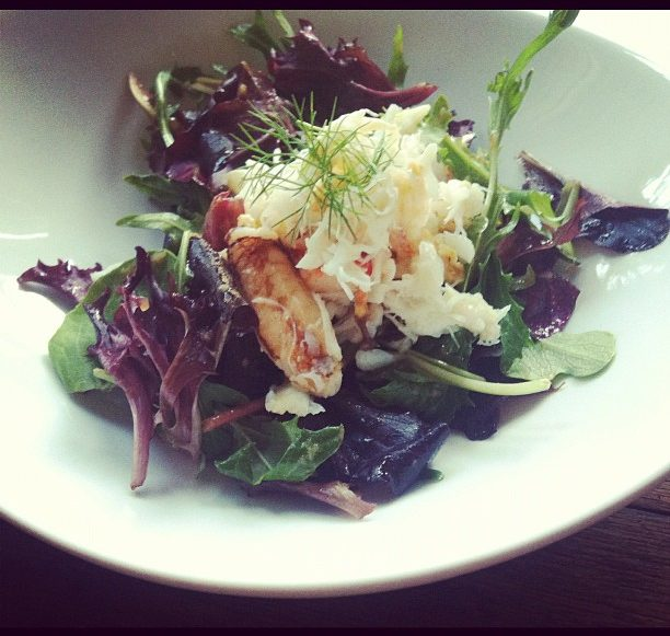 Dungeness Crab Salad with Bloody Mary Vinaigrette