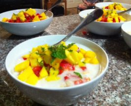 FIVE GIRLS RAW: Coconut Parsnip Porridge with Mango