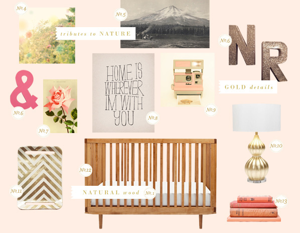 A Naturally Modern Nursery with Lay Baby Lay