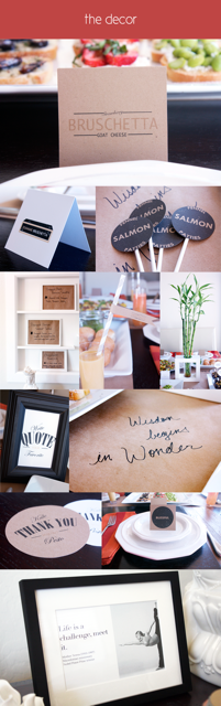 Collage of small decor items for yoga parties