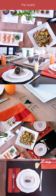 Collage with varying settings of place and decors for yoga parties