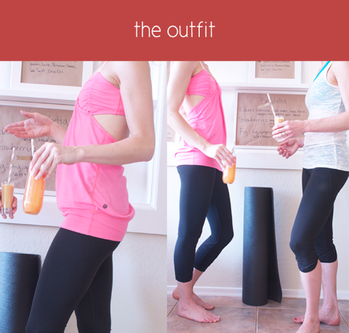 People in yoga outfits