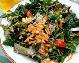 Tuscan Kale and Smoked Salmon Salad