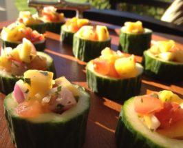Mango Salsa Cucumber Bites