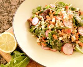 Super Crunchy Quinoa Salad with Mojito Citrus Dressing