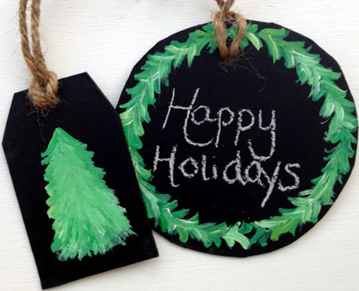 Make It Yourself: DIY Chalkboard Holiday Gift Tags