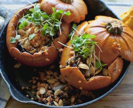 The Poor Porker's Roasted Pumpkins with Lentils