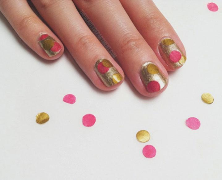 Make It By Monday: Easy Confetti Nail Art