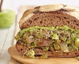 Brain Food: Ahi Sandwich with Spinach Pesto