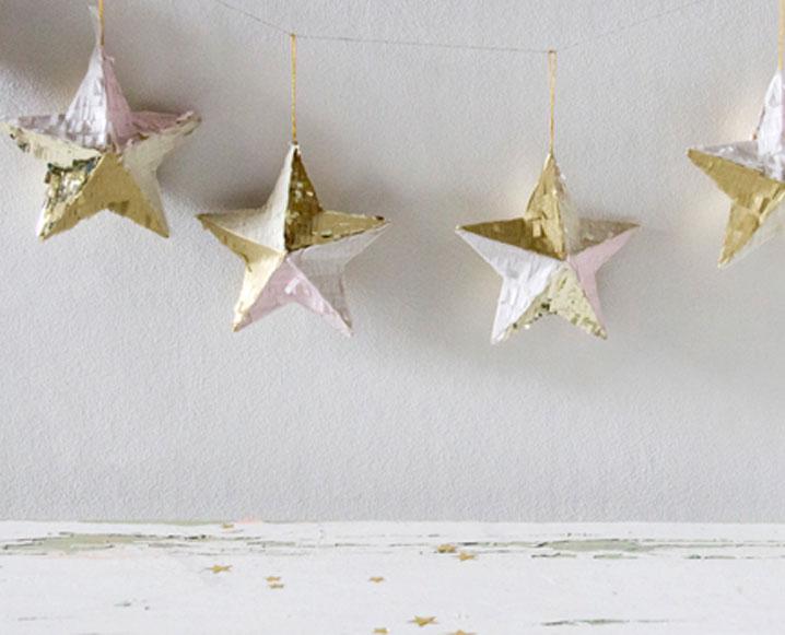 Make It By Monday: Confetti Star Holiday Garland