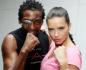 Victoria's Secret Angel Adriana Lima with Trainer Michael Olajide