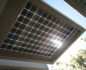 Solar panels provide hot water and heated floors meanng these home owners have no energy bills.
