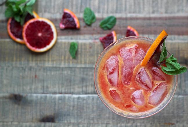 Take Your Minerals: A Calming Blood Orange Spritzer