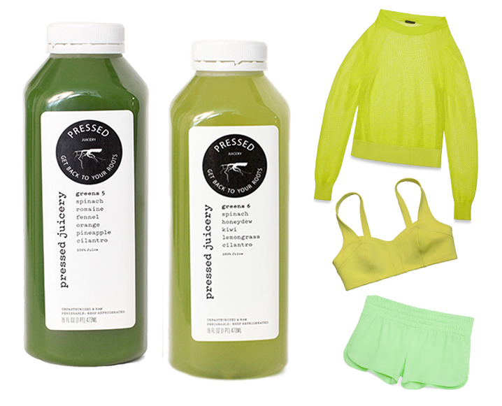 Spring Color Report: Pressed Juicery + Theory 38 Are Going Green