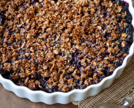 Gluten-Free Vegan Blueberry Granola Crisp