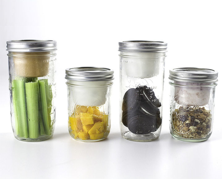 mason jars with lids