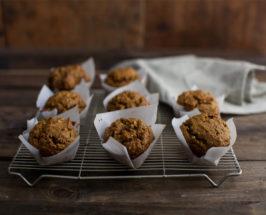 pumpkin muffins cooling on rack