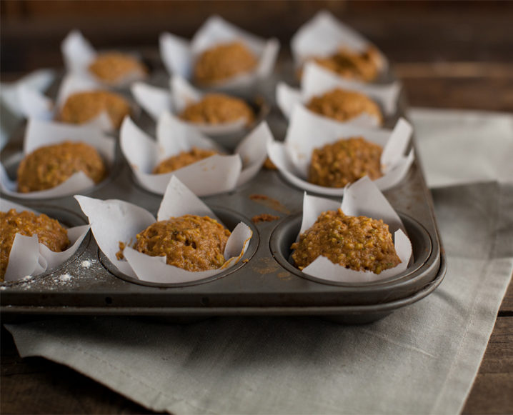 pumpkin muffins ready to bake