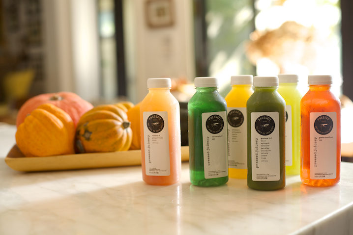 Pressed Juicery juices at the ready