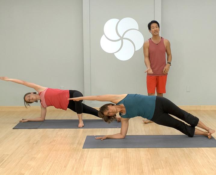 myyogaworks david kim core routine yoga the chalkboard