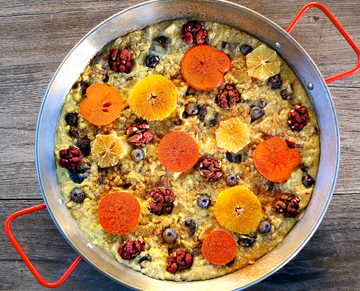 inventive holiday dessert paella