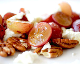 Truffle Honey Roasted Grapes with Goat Cheese and Pecans