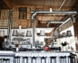 Medium shot of the bar and counter of the Sage Vegan Bistro in Culver City