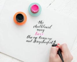 calligraphy workshop designlovefest