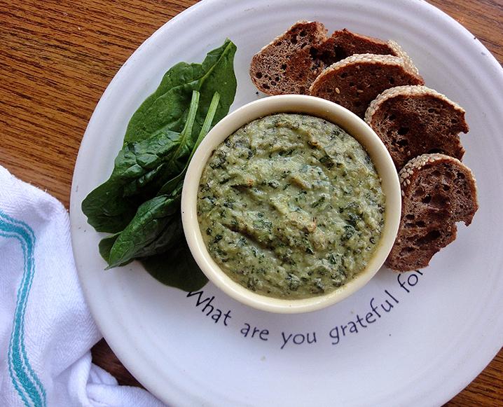 cafe gratitude spinach artichoke dip
