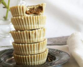 Raw Tahini Cups with Coffee Cream Filling