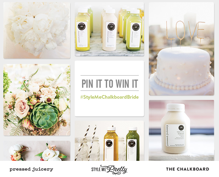 style me pretty the chalkboard mag pressed juicery