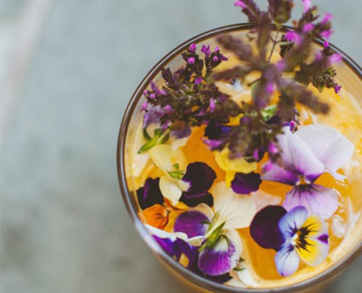 gorgeous cocktails flower cocktails