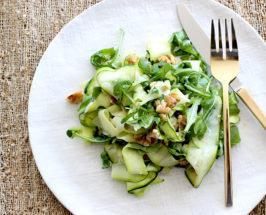 fall salad zucchini ribbons recipe