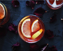 halloween cocktail rose whiskey