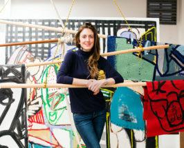 america martin in the artists studio