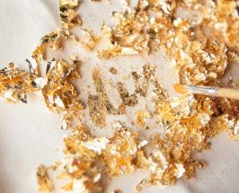 NYE, DIY: Make This Festive Gold-Leaf Stenciled Tote