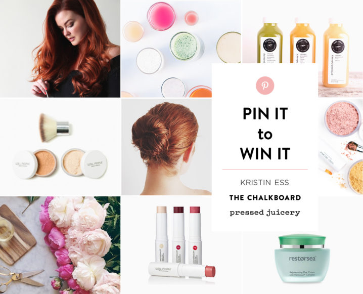 Hello, Gorgeous: Win Our Kristin Ess x The Chalkboard Pinterest Contest