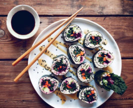 My New Roots: Grain-Free Black Kale Sushi Rolls + Miso Ginger Sauce