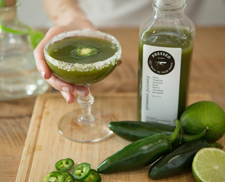 pressed juicery jalapeño margaritas
