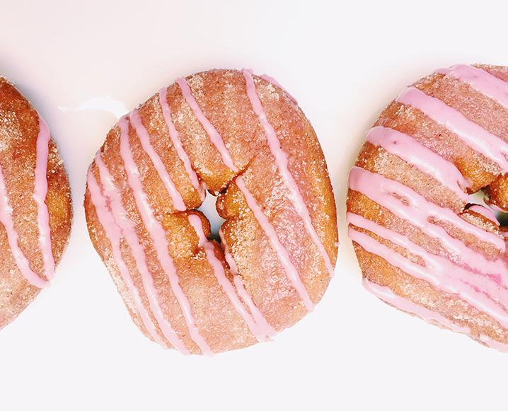 Gluten-Free Cake Donuts With Beet Sugar Glaze
