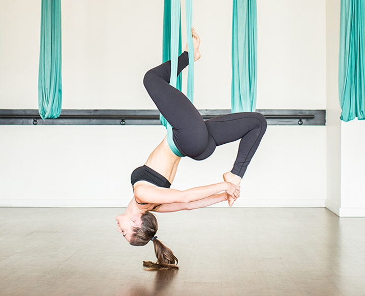 Aerial Fitness With A First-Timer: Patience, Air Crunches + Upside-Down Splits
