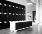Medium shot of Playlist Yoga locker room