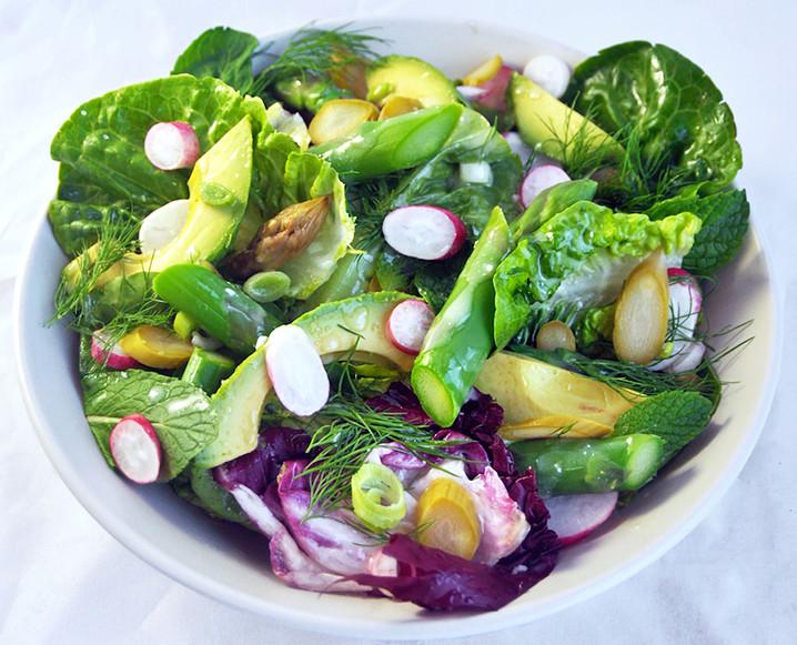 Little Gem Salad Bowl With Avocado + Creme Fraiche