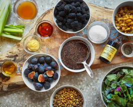 A Gorgeous Fig + Quinoa Salad With Pine Pollen Dressing