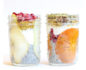 Two jars of seasonal chia pudding cups