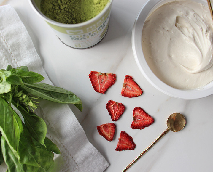 A Nutritionist's Dried Strawberry + Coconut Beauty Bites