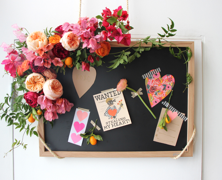 Make This Floral Inspiration Board For Valentine's Day