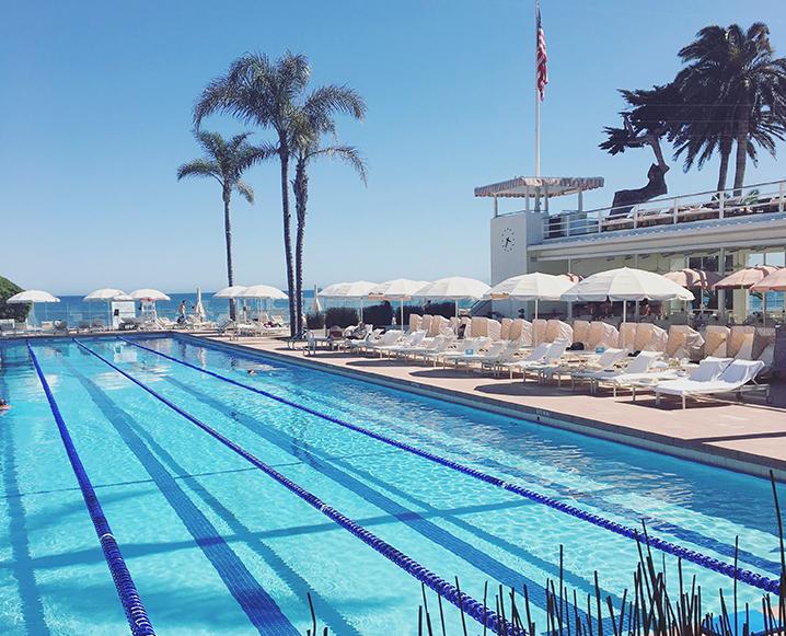 pool at the four seasons hotel in santa barbara