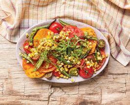 Southern Charm: Heirloom Tomato Salad With Charred Okra